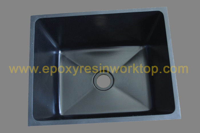 Rectangular black epoxy undermount counter top sinks for hospital
