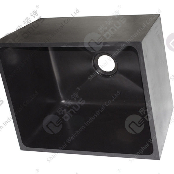 Resist Strong Alkalies And Acid Sink Outlets & Accessories Epoxy Resin Black Sink For Laboratory Worktops