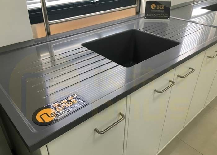 Monolithic Material Epoxy Resin Worktop High And Low Temperatures For Chemisty Lab
